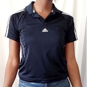 ADIDAS | Navy striped athletic polo 648